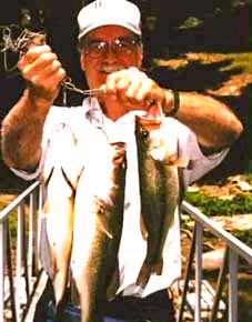 fishing at Hickory Hollow Resort