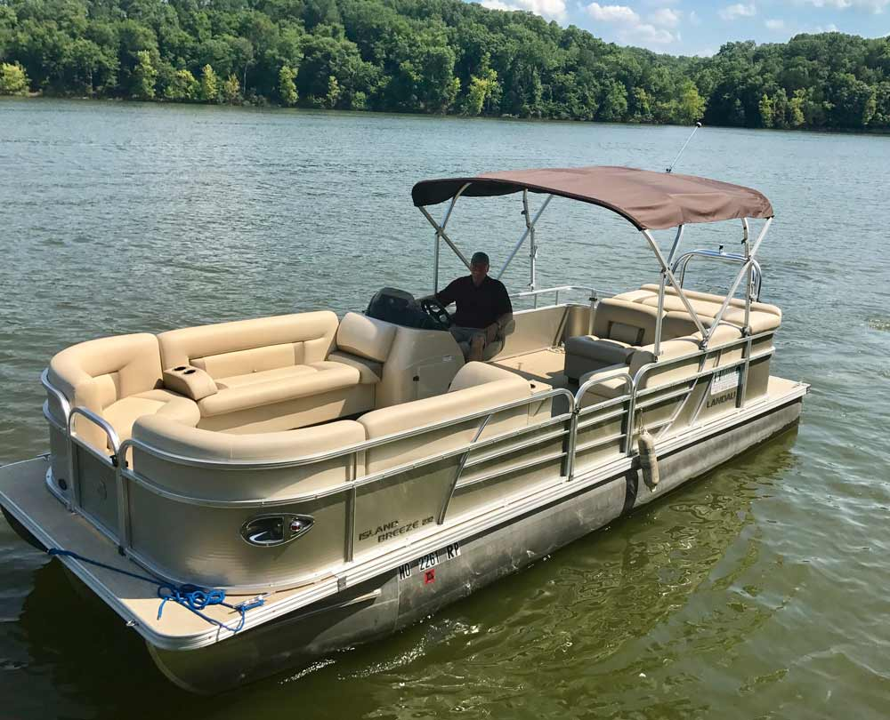 new tritoon boat