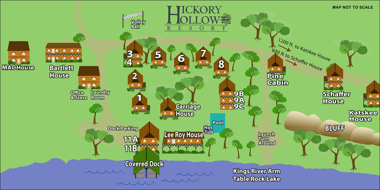 hickory hollow resort map